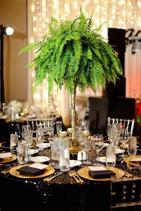 lush  tall fern wedding centerpiece  great