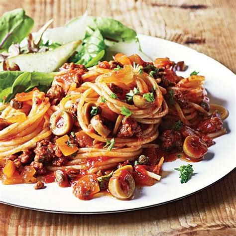 cooking light dinner recipes spanish spaghetti with olives dinner tonight pasta