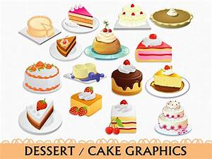 Cake Clip Art Graphic Food Sweets Dessert Clipart Scrapbook