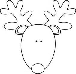 Black and White Reindeer Head