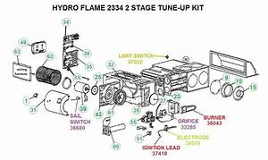 Atwood Model 2334 2 Stage Furnace Parts