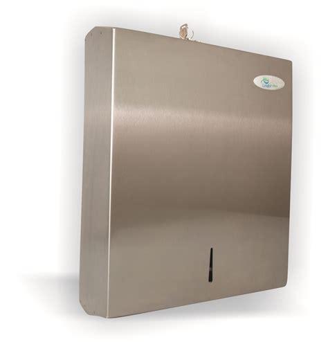stainless steel folded paper towel dispenser lindol hygiene