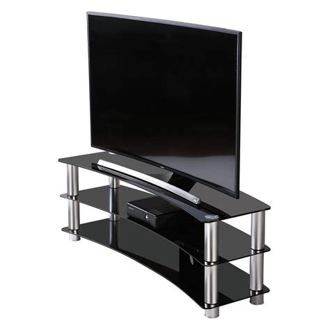 65 inch sofa table fitueyes curved silver corner tv stand for up to 46inch
