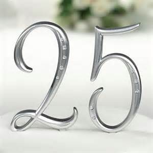 heart cake topper silver number cake topper picks