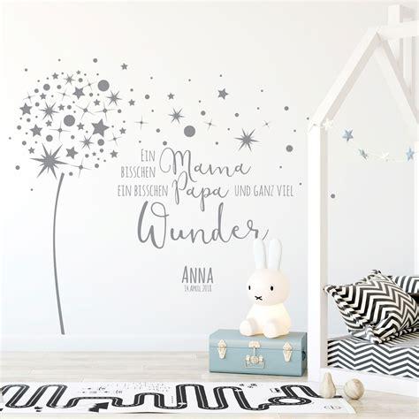 Wandtattoo Kinderzimmer Sprüche by Wandtattoo Babyzimmer Pusteblume Spruch Zitat Sterne