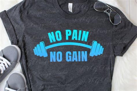 No Pain No Gain (617331) | Cut Files | Design Bundles