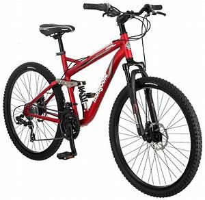 Mongoose Stasis Comp 26 U0026quot  Full Suspension Mountain Bicycle