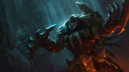beast artwork champions riot moba game rengar wallpaper