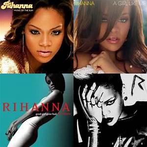 Rihanna Album Collage | Music | Pinterest | Rihanna albums ...