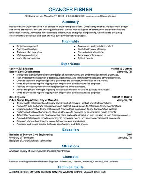 Best Civil Engineer Resume Example Livecareer