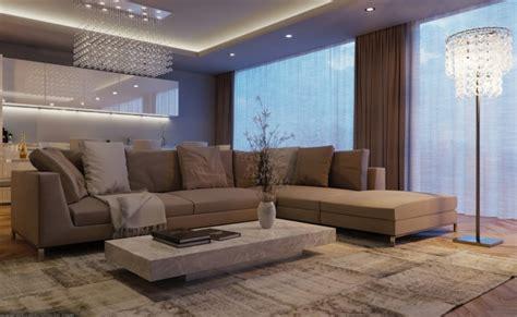 canapé gris taupe déco salon gris et taupe pour un intérieur raffiné ideeco