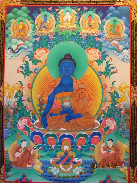 medicine buddha thangkanepali thangkatibetan thangka