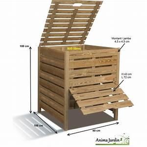 Composteur Pas Cher : composteur de jardin en bois 800 litres en pin trait autoclave burger pas cher ~ Preciouscoupons.com Idées de Décoration