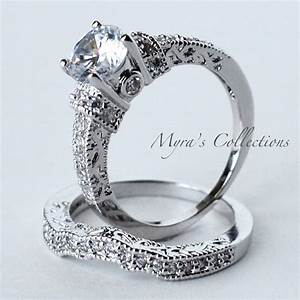 320ct vintage filigree bridal wedding engagement ring With wedding rings filigree womens