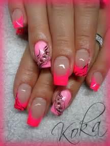 Gel nails neon pink | Neon Nails | Pinterest | Design ...