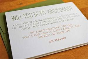 unique by design will you be my bridesmaid With letter to my bridesmaid