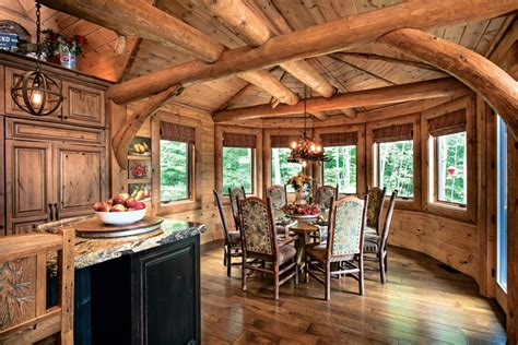 Kitchen Ideas For New Homes - a mountain log home in new hshire