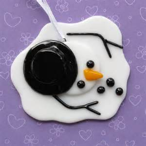 melted snowman ornament by nivenglassoriginals on etsy glass ornaments pinterest melted