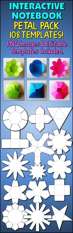 interactive notebook templates interactive notebook templates easy to cut petal pack 108 templates patrones de caja