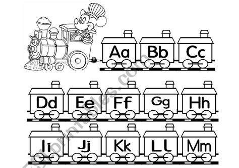 alphabet train printable