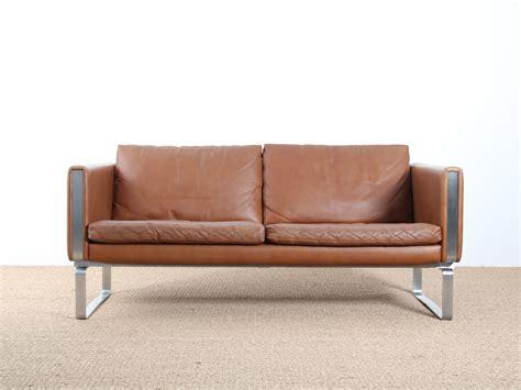 canapé cuir scandinave canapé 2 places scandinave modèle jh 802 galerie møbler