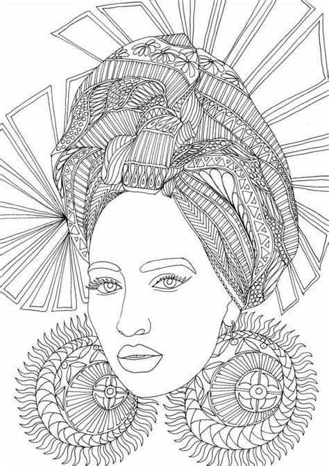 Face Coloring Page for Adults in 2020 | Coloring pages