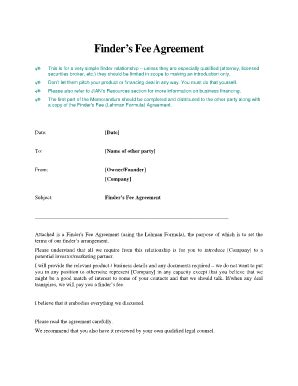 printable referral fee agreement  templates  submit