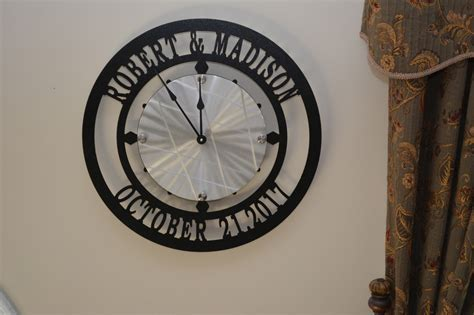 Custom Name and Established Date Wall Clock, Personalized