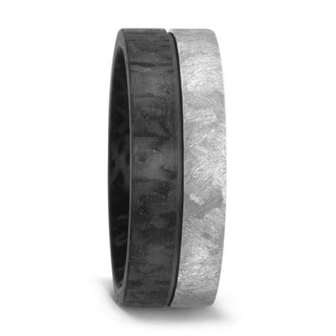 mens carbon fibre and titanium wedding ring