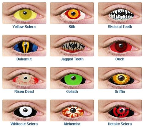 colored white out ghost lounge creepy contact lenses and teeth to