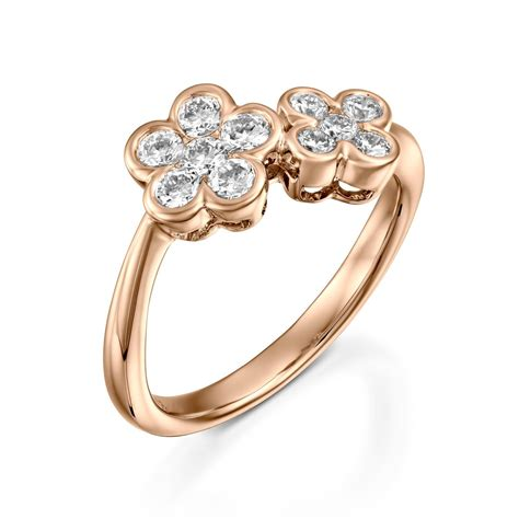 diamond flower ring diamond flower ring rose gold