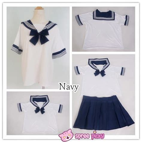colors xs xl  fashion stretch sailor seifuku