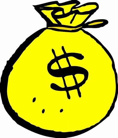 Money Yellow Clip Clipart Sign Clker Dollar