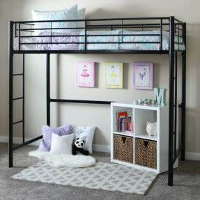 Twin Loft Bed With Storage Underneath - Open Travel