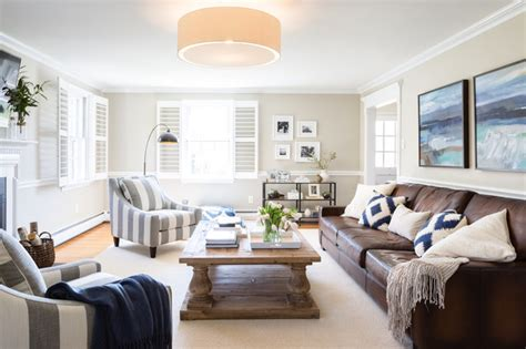 A Family Friendly Living Room In Devon Transitional