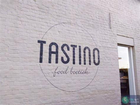 m駘asse cuisine muurschildering logo zwembad beveren lizart