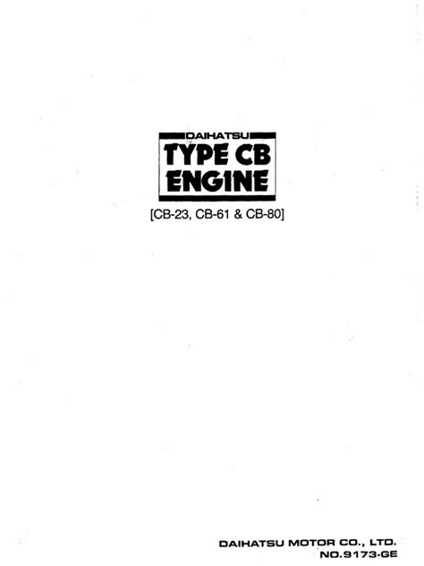 engine manual for daihatsu cb series throttle engines