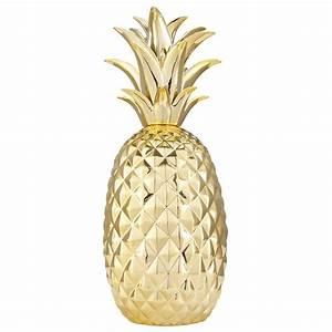 Ananas Objet Deco : d co ananas en c ramique dor e maison du monde le monde et monde ~ Teatrodelosmanantiales.com Idées de Décoration