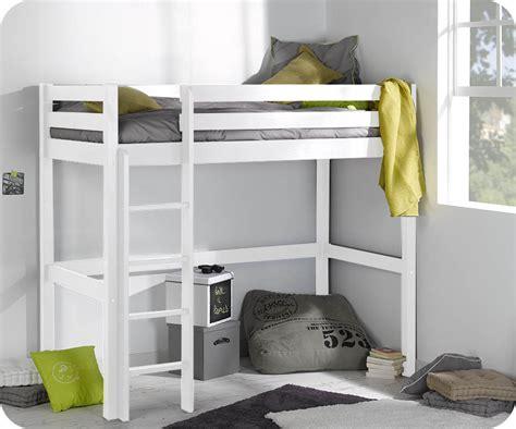mezzanine bureau enfant lit enfant mezzanine cargo blanc 90x190 cm
