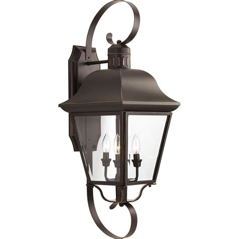 progress lighting andover 4 light 34 5 in outdoor bronze wall lantern sconce p5627 20