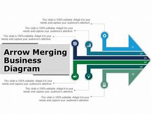 Arrow Merging Business Diagram Powerpoint Guide