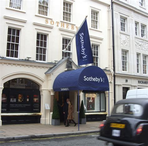 Sothebys auction rooms on New Bond Street