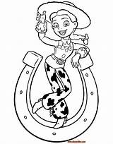 Toy Coloring Story Pages Jessie Hamm Rocks Horseshoe Bullseye sketch template