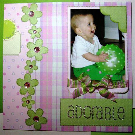 maximum embellishment adorable  baby scrapbooking