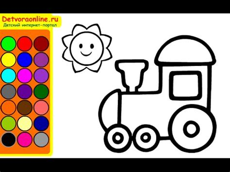 train coloring pages coloring pages  kids youtube