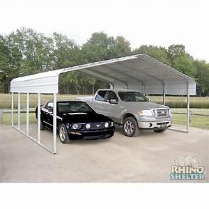 Carport Maße Für 2 Autos : rhino shelter 2 car steel carport 22 39 wx24 39 lx12 39 h ~ Michelbontemps.com Haus und Dekorationen