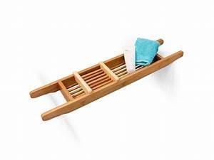 Pont De Rangement : pont de baignoire salle de bain rangement en bois de bambou hxlxp 6 5 x 69 x 14 cm bougie ~ Teatrodelosmanantiales.com Idées de Décoration