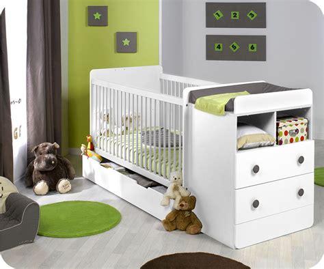 chambre evolutif lit bébé évolutif à barreaux malte couleur blanc