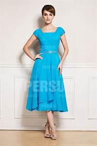 robe mere de la mariee courte a manche courte persunfr With robe de la mère de la mariée