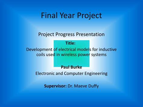 final year project project progress